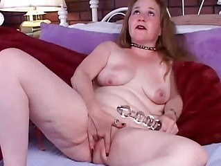 aged non-professional copulates her soaked pussy