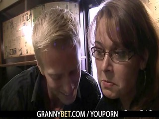 breasty mom is picked up in the bar and screwed