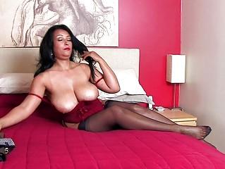 breathtaking brunette momma with massive bazongas