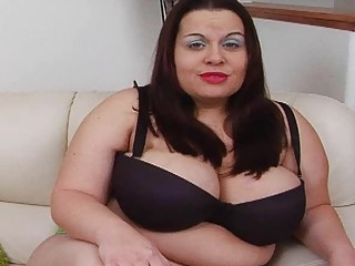 sexy massive darksome haired momma with extra big