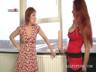 breasty lesbo matures oiling bra buddies and