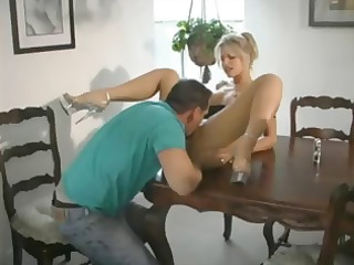 breasty blond d like to fuck eats his jock and