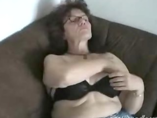 oma ella playing with her tits