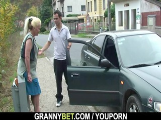 granny is picked up and drilled