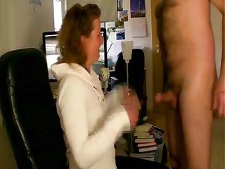hottie housewife sucks off her mans pecker the