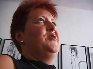 excited redhead older german