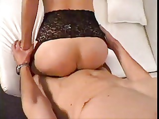 blond older teaching young fellow to fuck
