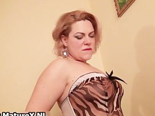 slutty breasty mature woman stripping part9
