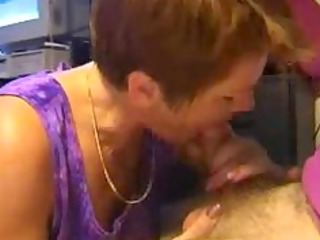 milf sucks her fellow off