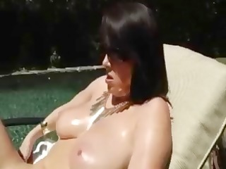 sexy brunette hair mother i rayveness oils up and