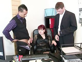 mature office doxy enjoys cocks
