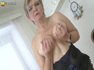 hot old granny playing with her old moist crack
