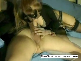 masked wife mouthful