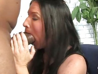 brunette hair mother acquires boned by a large
