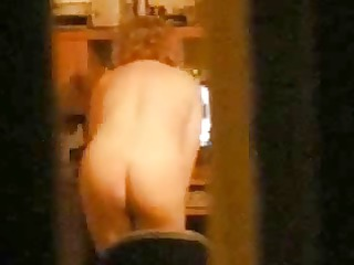my breasty mom home alone caught showing on web