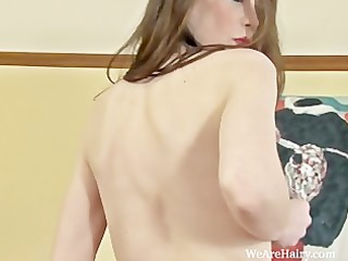 hairy mystique opens her legs wide for a better