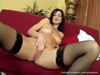 cougar slit pounded and facial