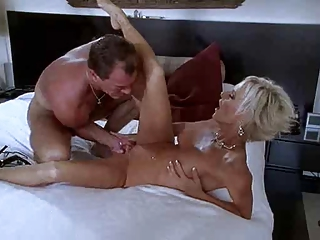 golden-haired milf does everything for his knob