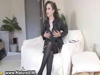 brunette hair older mamma with hawt darksome part1