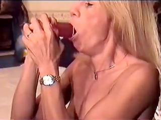 whore practices with different dildos
