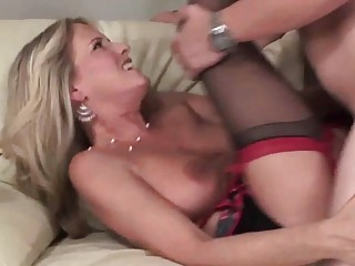 lusty large titted milf getting rammed on the
