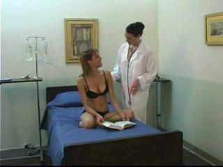 youthful girl and aged lesbo doctor