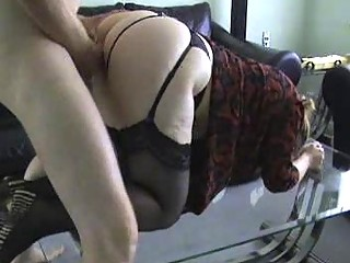 mother i ho in nylons gets bent over and drilled