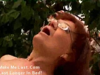 granny in glasses and nylons