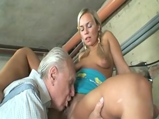 granny pair having a valuable one with youthful