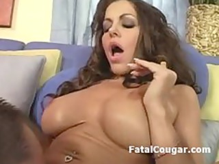 pussy licked mature housewife gives terrific