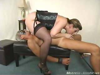 a wicked milf mistress alix abuses a belted down