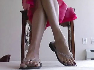 aged foot tease