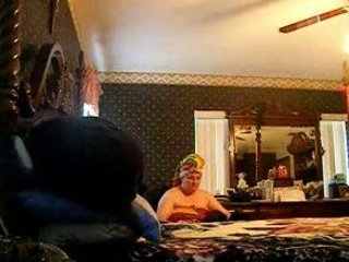 hidden web camera of friends mommy putting on her