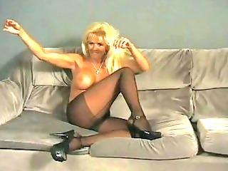 smoking milf shows off her body