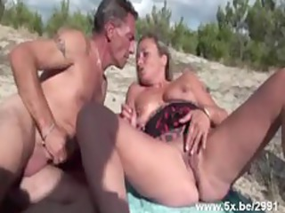 french aged gangbanged on the beach