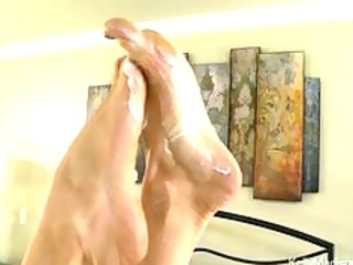 super titted wife gives a outstanding footjob