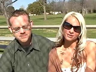hawt blonde wife bangs fresh rod