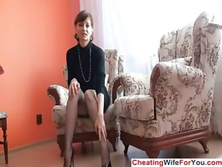 aged lady shows bawdy cleft