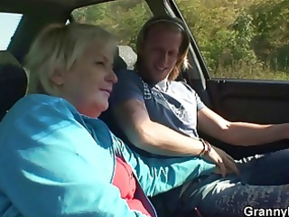 car driver bangs old bitch
