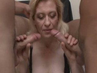 perverted older blond in wild groupsex!
