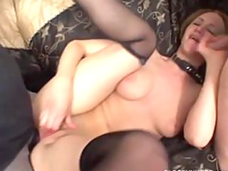 perverted milf in anal trio