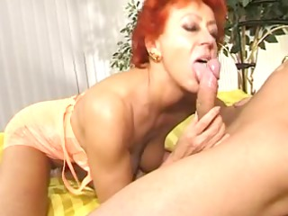 enthusiastic aged cutie takes cock in bawdy cleft