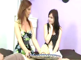 milf takes time instructing daughter how to engulf