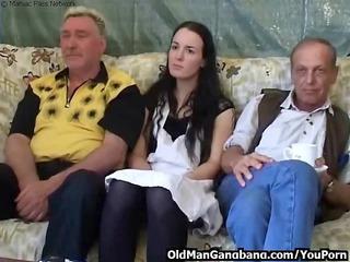 horny grandpas fuck younger whore