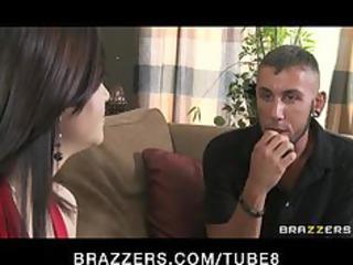 slutty brunette hair wife brandi copulates her