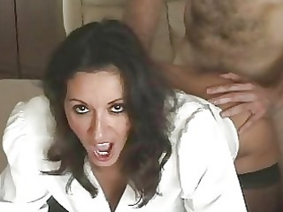 seductive breasty milf in nylons gets slammed