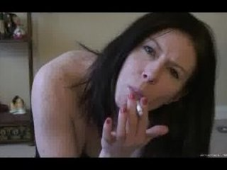 a hot wife smokes and teases for