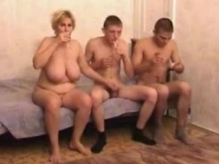 drunk older mamma with guys