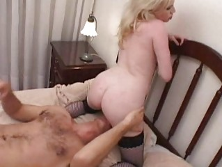 breasty blond momma gets her slit licked and
