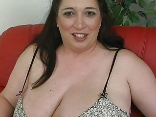 pale black haired momma with huge tits